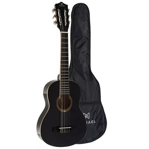 violão infantil michael antares vm10e bk 1/4 + capa brinde