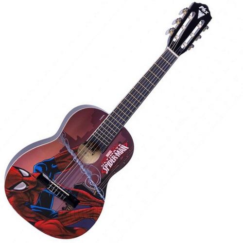 violão infantil phx marvel homem aranha + brindes