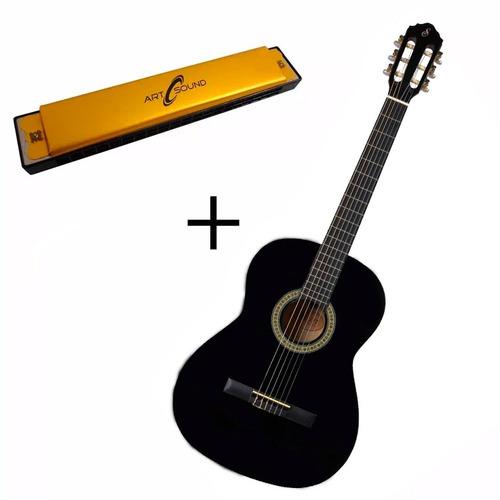 violão iniciantes barato acústico + gaita  estudo promoção