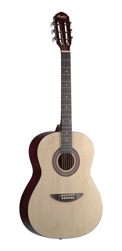 violão memphis ac-40 na natural acústico aço - refinado