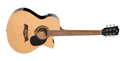 violão michael vm620dt na natural elétroacústico alto-brilho