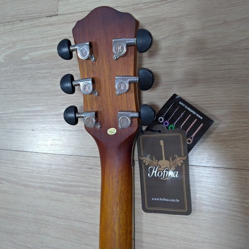 violão mini jumbo hofma hm 236 cutway sunburst aço sb