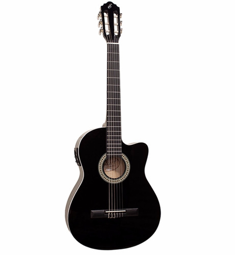 violão nylon eletro giannini nf-14 ceq preto flat start