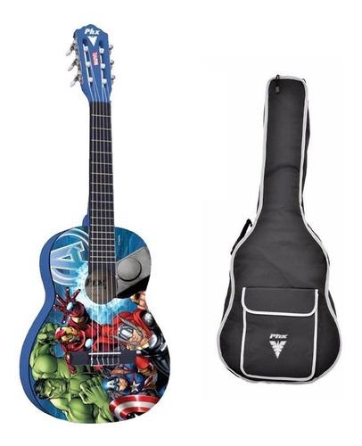 violão nylon infantil marvel avengers capa kids vim-a1 phx