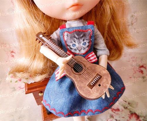 violão para boneca blythe * pullip dal * miniatura re-ment