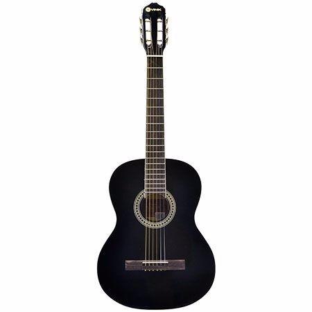 violão para iniciante aço preto + afinador + capa + palheta
