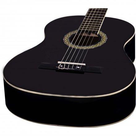 violão para iniciantes preto c/ afinador + palheta + capa