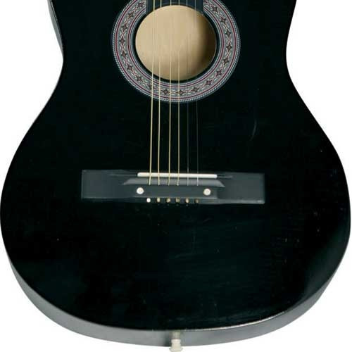 violão queens d137516 estudante, cordas em aço - preto