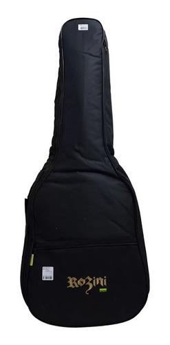 violão rozini rx721 premium 7 cordas elétrico c/bag fishman