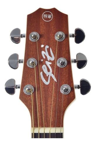 violão seizi baby akira half cutway elétrico mogno com bag