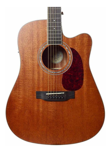 violão seizi tokyo folk cutaway mahogany satin