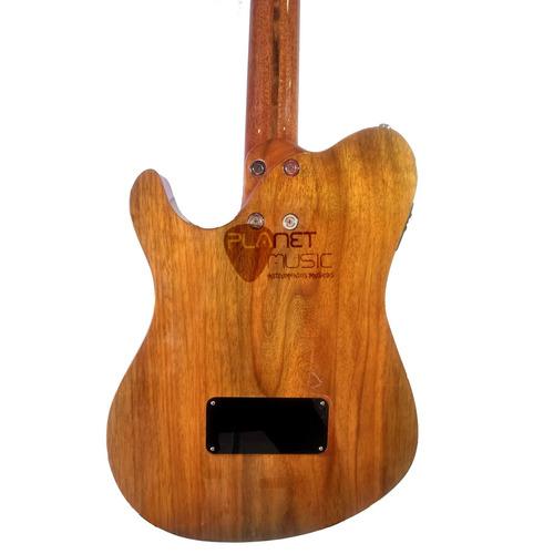 violão semi-sólido carrozza c/ bag estilo godin