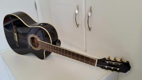 violão strinberg eletroacústico com afinador + capa cr bag