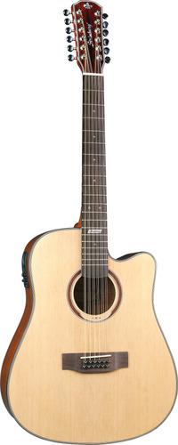 violão strinberg folk 12 cordas af412 c natural + brindes