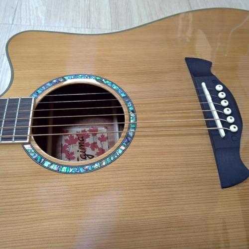 violão tagima aço elétrico vancouver folk série canadá