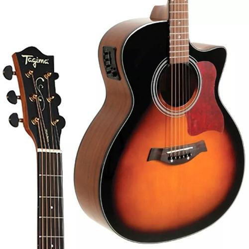 violão tagima california aço afinador sunburst elétrico