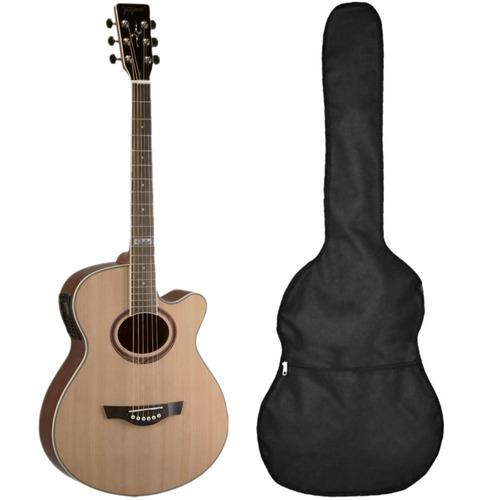 violão tagima dallas tuner cordas aço + capa - loja kadu som
