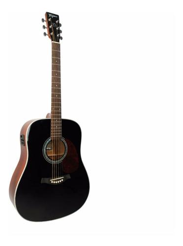 violão tagima folk tw 25 woodstock elétrico preto