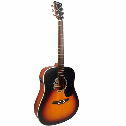 violão tagima folk tw 25 woodstock elétrico sunburst