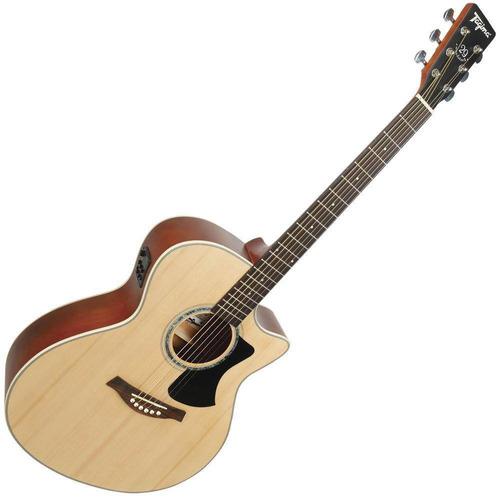 violão tagima tw29 aço eletroacústico afinador semijumbo
