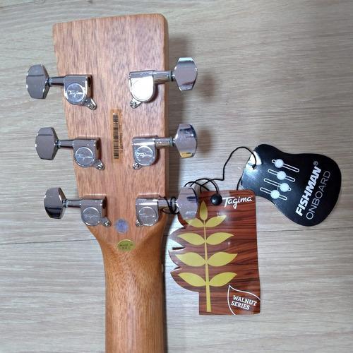 violão tagima walnut six jumbo captação fishman