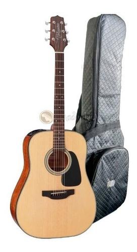 violão takamine folk gd15ce n elétrico aço + bag super luxo