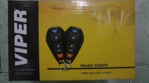 viper alarma 3400v con sirena 2 controles sensor de impacto