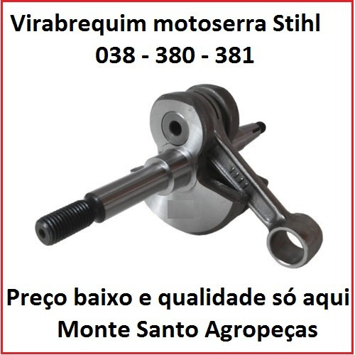 virabrequim motoserra stihl 038 380 381