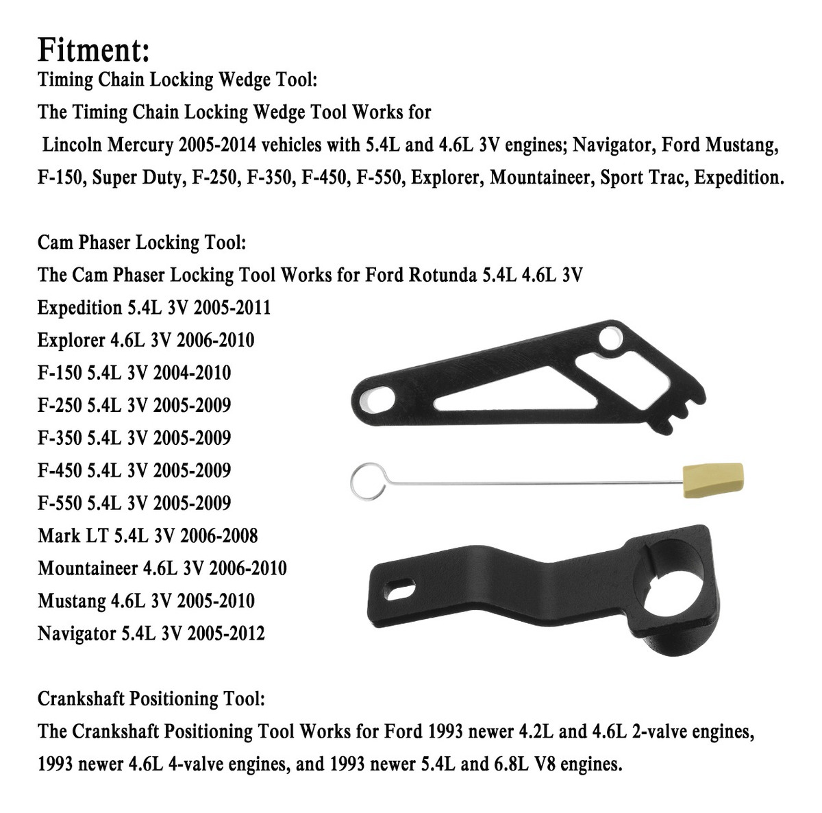 2005-2011 F150 F250 Explorer Expedition Navigator 3V Camshaft Phaser Lock Out