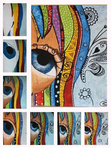 virgen de guadalupe cuadro texturado acrilico mandala pintur