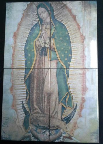 virgen de guadalupe, en azulejos 60cm x 40cm dos juegos
