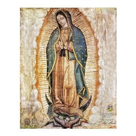 Virgen De Guadalupe Oficial Giclee En Lienzo 50x63 Cm