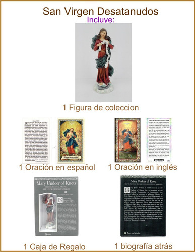 virgen desatanudos colección joseph studio estatua 10cm 1 pz