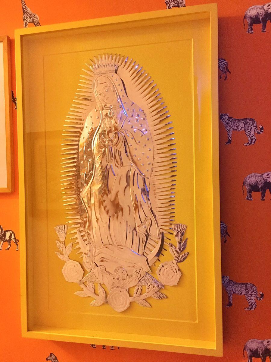 Virgen Labrada Hoja Metal Y Marco Madera 80cm X 1.2mt - $ 2,500.00 ...