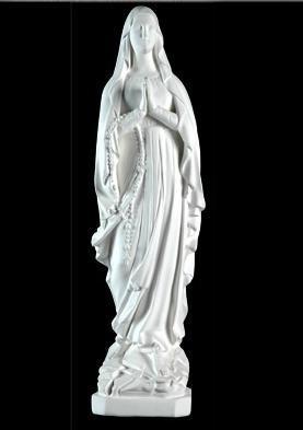 virgen medalla milagrosa lourdes sagrado corazón 65 cm yeso
