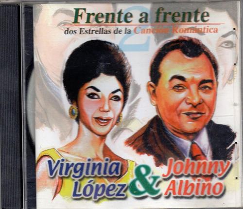 virginia lopez & johnny albino - frente a frente cd original