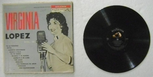 virginia lopez y su trio imperial  1 disco lp de vinil