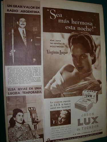 virginia luque clipping publicidad jabones jabon lux