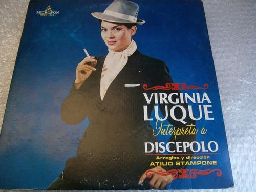 virginia luque interpreta a santos discepolo lp argentina 70