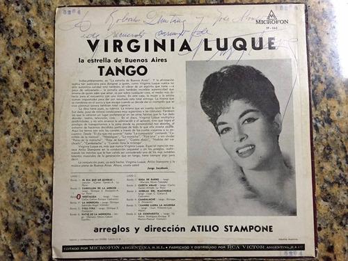 virginia luque- vinilo  tango -autografiado!.exce.oferta
