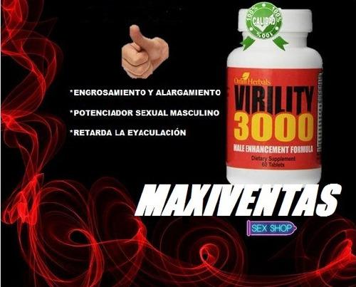 virility 3000 crecimiento viril alargamiento y potenciador