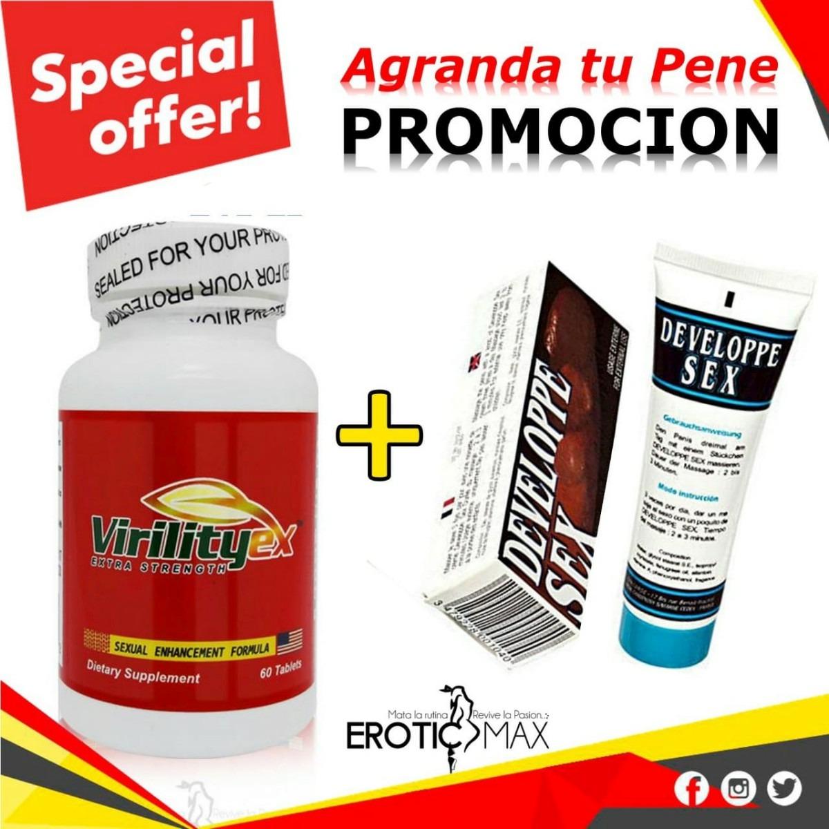 Virility Ex Original Gratis Crema Crecimiento Del Pene U S 55 00
