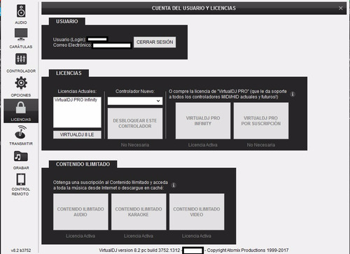 virtual dj 8.2.3752ultima version /pc/ licencia pro infinity