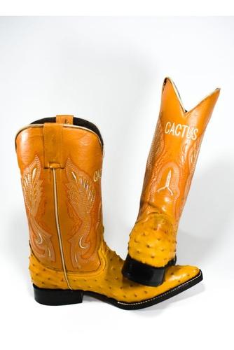 visandr bota vaquera imitacion avestruz
