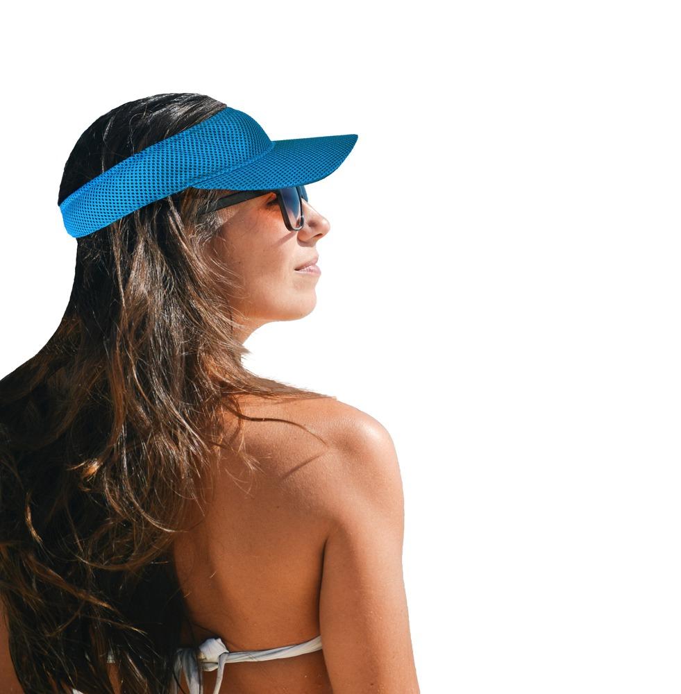 viseira azul chapéu boné esporte praia caminhada piscina. Carregando zoom. 1dbcab1a883