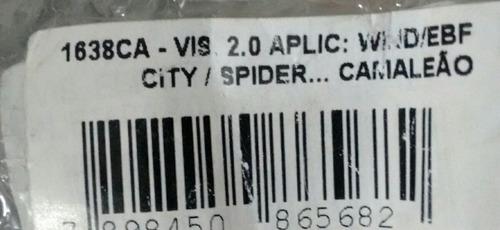 viseira capacete camaleão ebf wind / city / spider 2.00mm