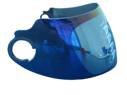 viseira capacete pratik azul iridium velth