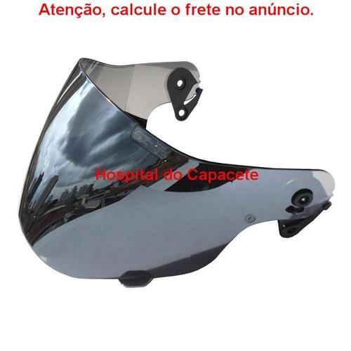 viseira ebf super motard espelhada prata (cromada)