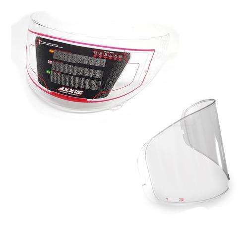 viseira fume capacete axxis + película anti-embaçante