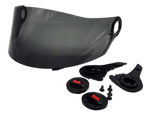 viseira + kit reparo para capacete ls2 ff358 polivisor 1774
